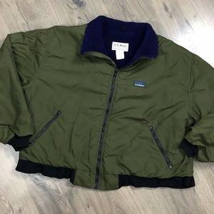 Vintage LL Bean Warm Up Jacket Men Large Fleece